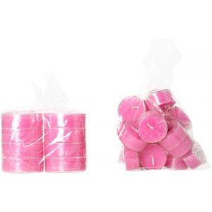 Hot pink - plastik suur teeküünal 8tk.