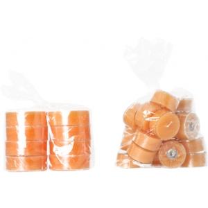 Orange - plastik suur teeküünal 8tk.