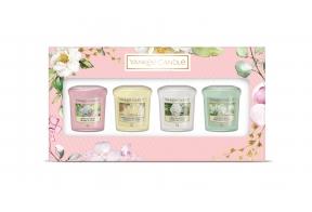 4 votive lõhnaküünalt - kinkekomplekt